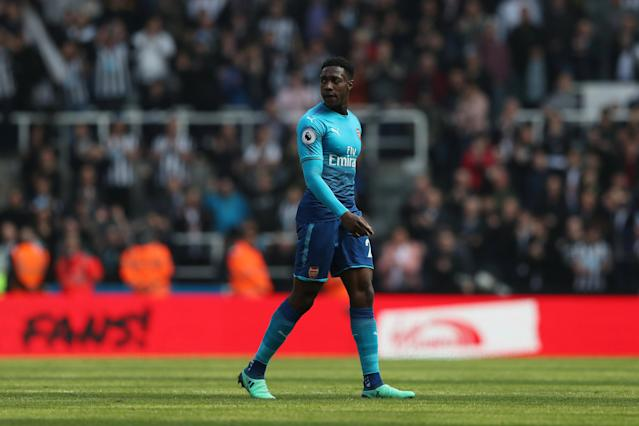 """Soccer Football - Premier League - Newcastle United vs Arsenal - St James' Park, Newcastle, Britain - April 15, 2018 Arsenal's Danny Welbeck looks dejected after the match REUTERS/Scott Heppell EDITORIAL USE ONLY. No use with unauthorized audio, video, data, fixture lists, club/league logos or """"live"""" services. Online in-match use limited to 75 images, no video emulation. No use in betting, games or single club/league/player publications. Please contact your account representative for further details."""
