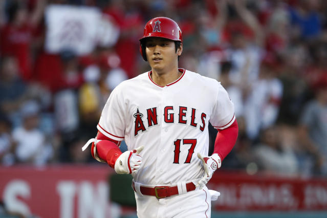 Angels two-way star Shohei Ohtani was named AL Rookie of the Year, topping Yankees stars Miguel Andujar and Gleyber Torres. (AP)