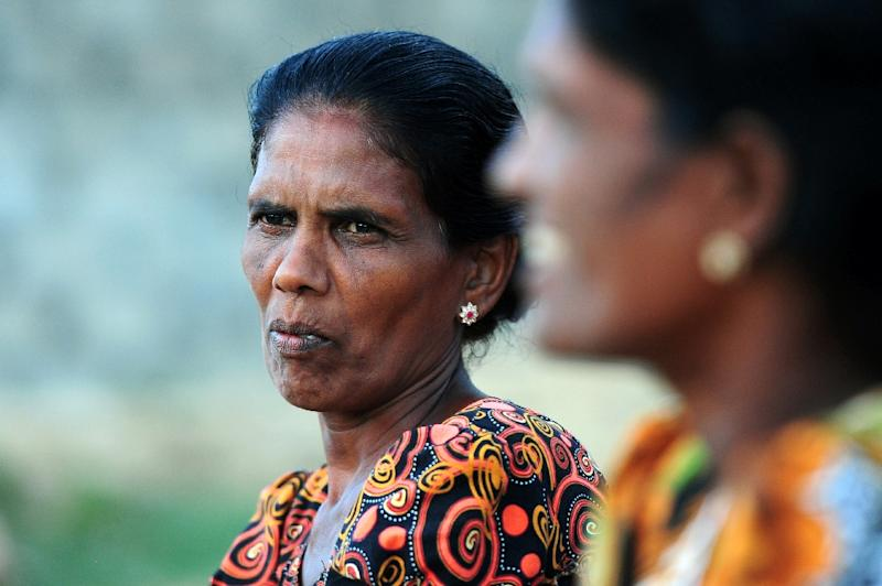 Sri Lankan war widow Baskaran Jegathiswari, 50, speaks to AFP during an interview in Jaffna, some 400 kilometres (250 miles) north of the capital Colombo on June 9, 2015 (AFP Photo/Lakruwan Wanniarachchi)