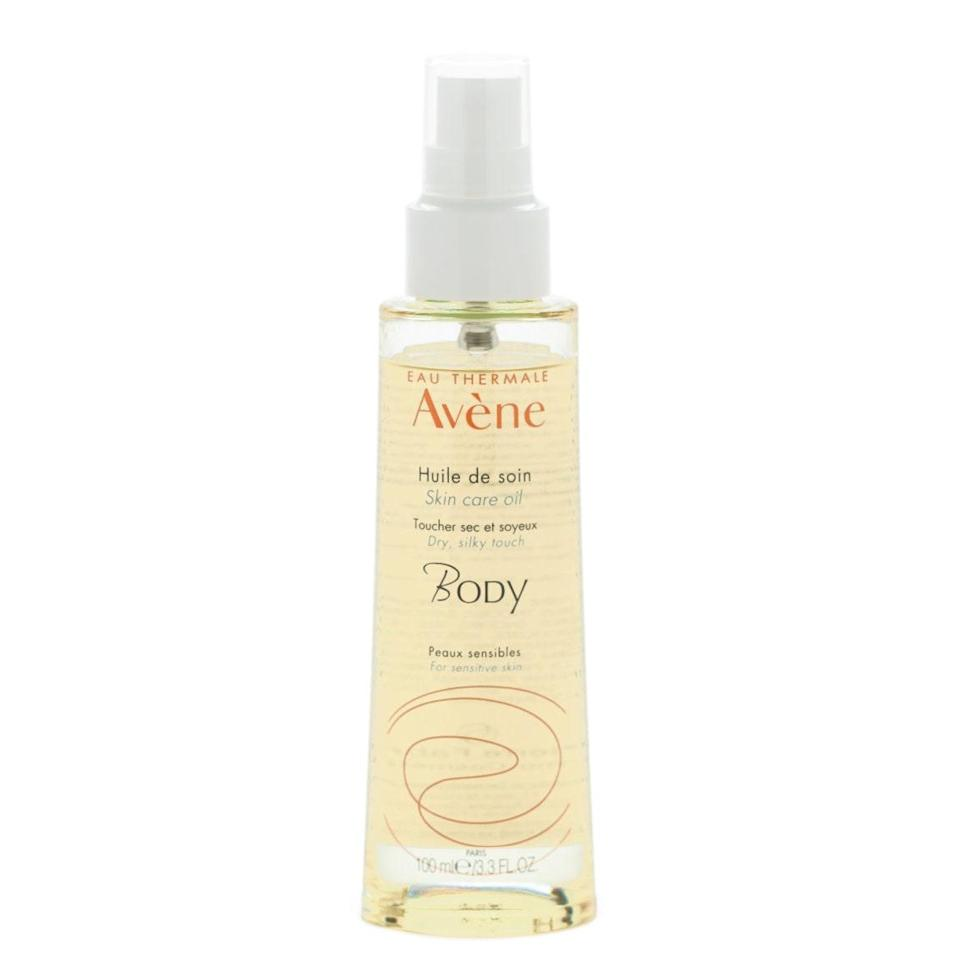 """This was my introduction to body oils and remains one of my favorites. It's a dry oil, so it absorbs super quickly and doesn't leave an oily residue—great if you're getting ready in a rush. It has a lovely light smell, like a very chic baby, but nothing heavy or distracting. It can also be used in your hair to add shine and tame frizz. $26, Avène. <a href=""""https://shop-links.co/1727118779774982314"""" rel=""""nofollow noopener"""" target=""""_blank"""" data-ylk=""""slk:Get it now!"""" class=""""link rapid-noclick-resp"""">Get it now!</a>"""