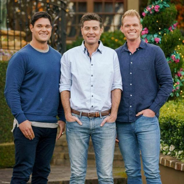Apollo, Stu and Jarrod are the three men left standing. Source: Channel Ten
