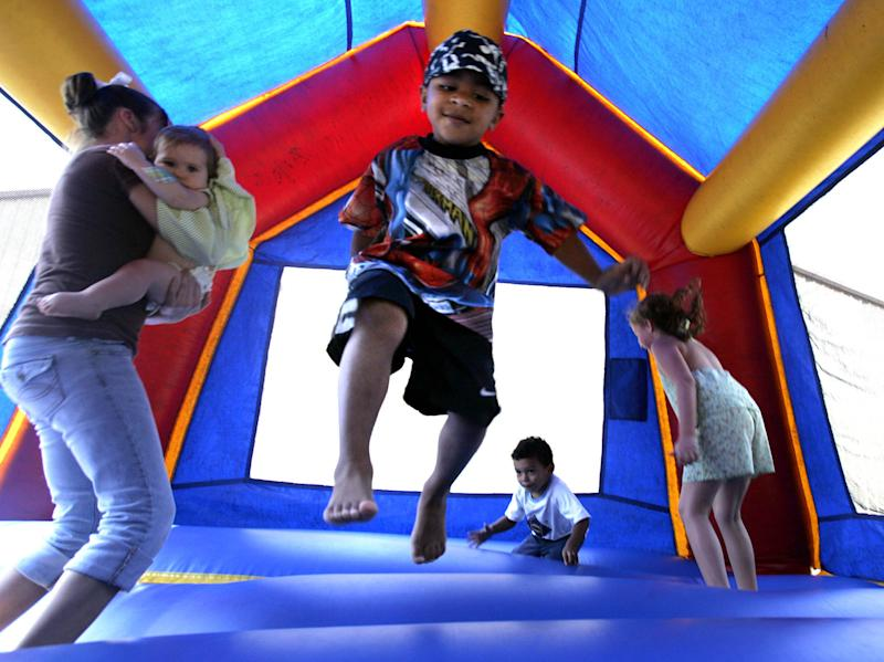 Bounce houses a party hit but kids' injuries soar