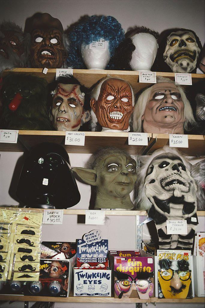<p>In the early '80s, masks remained a popular Halloween choice, especially masks of Ronald Reagan, who became president in 1981.</p>