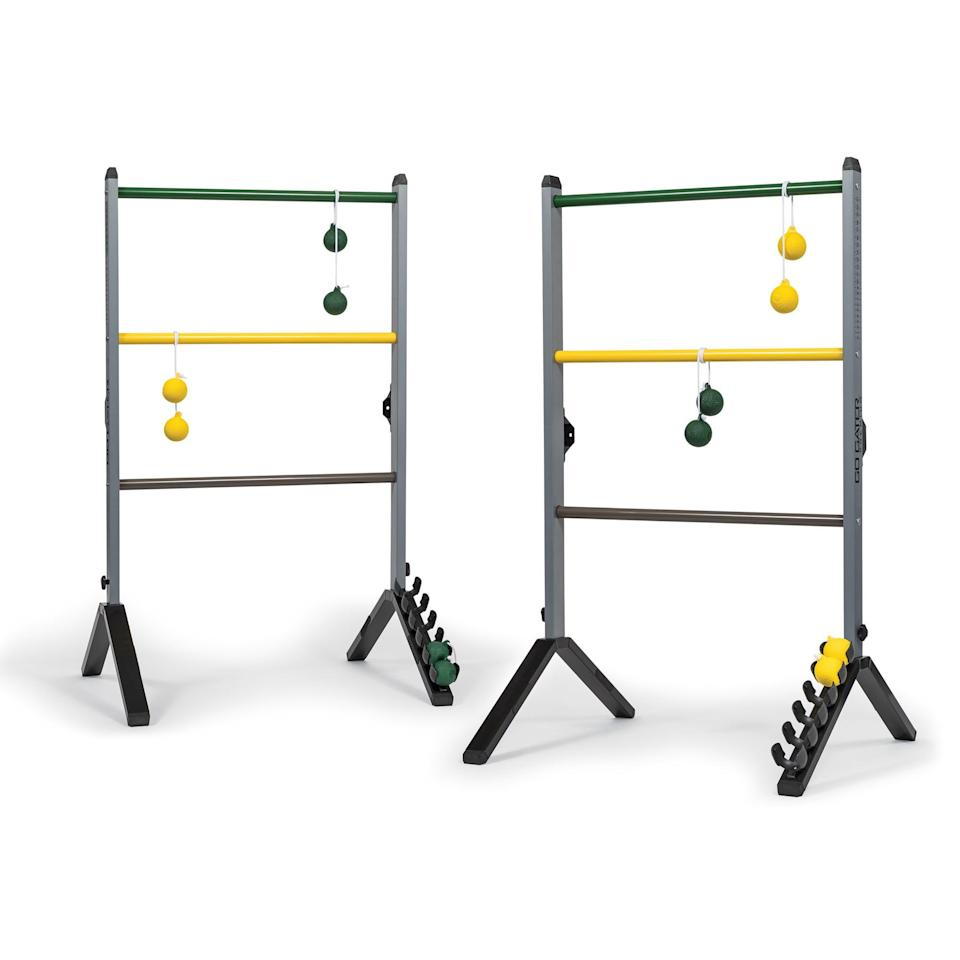"<h3><a href=""https://www.walmart.com/ip/EastPoint-Sports-Go-Gater-Premium-Steel-Ladderball-Set-Portable-Built-Last-Precision-Engineered-Ladders-Soft-Touch-Bolos-Deluxe-Scoring-In-Game-Rules/49801953"" rel=""nofollow noopener"" target=""_blank"" data-ylk=""slk:Go Gater! Premium Steel Ladderball Set"" class=""link rapid-noclick-resp"">Go Gater! Premium Steel Ladderball Set</a></h3> <br>Upgrade your current flimsy, plastic ladderball set (or, as some call it, monkeyball) with a high-quality, premium steel alternative for longer-lasting game time. <br><br><br><strong>Go! Gater</strong> Premium Steel Ladderball Set, $, available at <a href=""https://go.skimresources.com/?id=30283X879131&url=https%3A%2F%2Fwww.walmart.com%2Fip%2FEastPoint-Sports-Go-Gater-Premium-Steel-Ladderball-Set-Portable-Built-Last-Precision-Engineered-Ladders-Soft-Touch-Bolos-Deluxe-Scoring-In-Game-Rules%2F49801953"" rel=""nofollow noopener"" target=""_blank"" data-ylk=""slk:Walmart"" class=""link rapid-noclick-resp"">Walmart</a><br><br>"