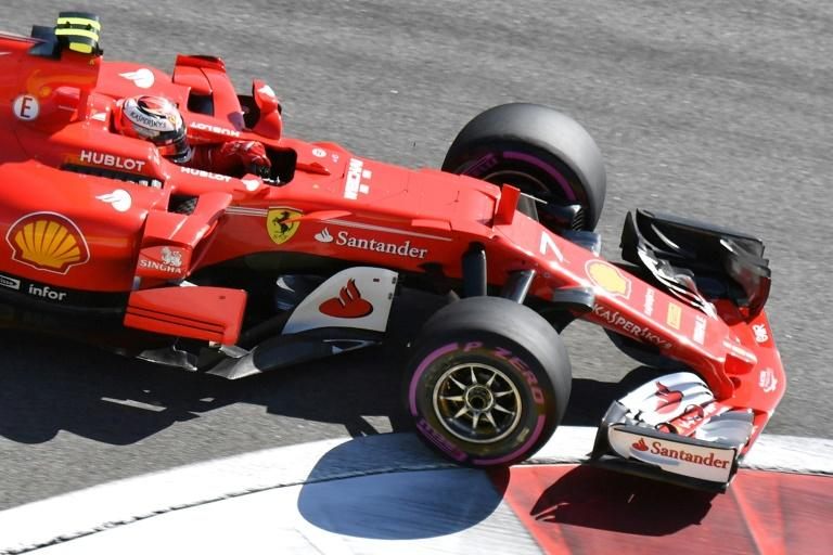 Ferrari's Kimi Raikkonen during the Russian Grand Prix in Sochi on April 30, 2017