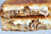 """<p>If you're looking for massively <a href=""""https://www.thedailymeal.com/cook/12-super-sandwiches-fit-any-meal-slideshow?referrer=yahoo&category=beauty_food&include_utm=1&utm_medium=referral&utm_source=yahoo&utm_campaign=feed"""" rel=""""nofollow noopener"""" target=""""_blank"""" data-ylk=""""slk:flavorful sandwiches worthy of the dinner table"""" class=""""link rapid-noclick-resp"""">flavorful sandwiches worthy of the dinner table</a>, this grilled cheese with Brie, balsamic mushrooms and onions is perfect.</p> <p><a href=""""https://www.thedailymeal.com/best-recipes/balsamic-mushroom-onion-grilled-brie-cheese-sandwich?referrer=yahoo&category=beauty_food&include_utm=1&utm_medium=referral&utm_source=yahoo&utm_campaign=feed"""" rel=""""nofollow noopener"""" target=""""_blank"""" data-ylk=""""slk:For the Balsamic Mushroom and Onion Grilled Brie Sandwich recipe, click here."""" class=""""link rapid-noclick-resp"""">For the Balsamic Mushroom and Onion Grilled Brie Sandwich recipe, click here.</a></p>"""