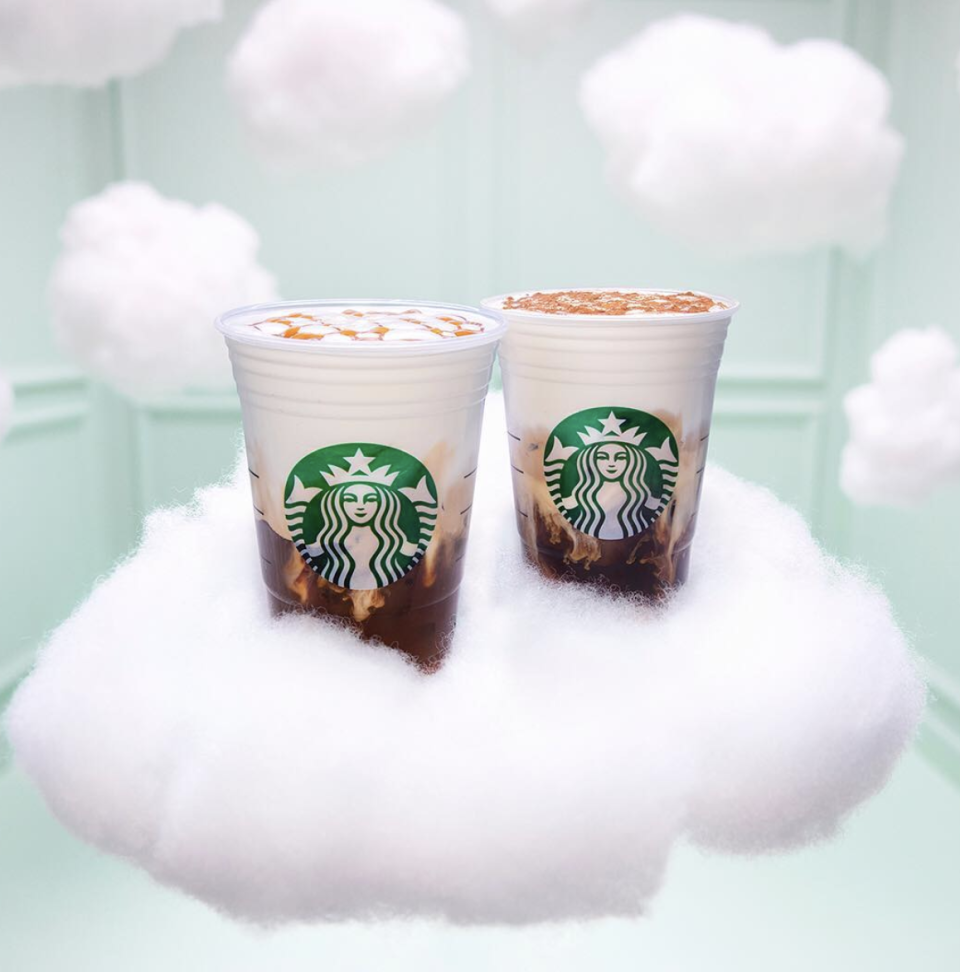 <p>The cloud caramel macchiato is a version of the beloved drink, with a delightful foamy topping that adds a special touch.</p>