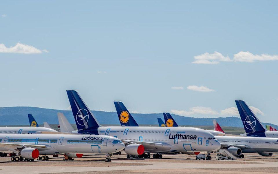 Grounded planes have been a common sight since March - Getty