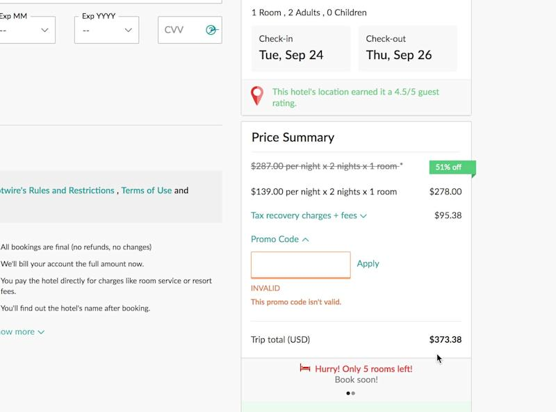 What to look for in hidden fees on travel sites