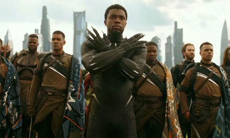 Black Panther (Chadwick Boseman) prepares for battle. (Credit: Marvel)