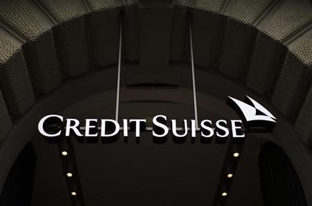 Logo of Swiss bank Credit Suisse is seen on a building at Paradeplatz square in Zurich