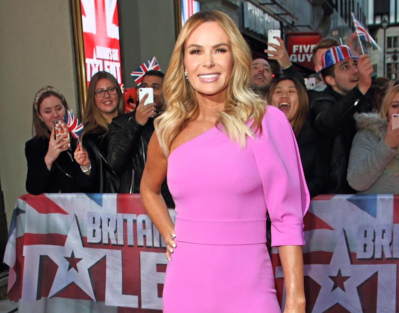 LONDON, UNITED KINGDOM - JANUARY 19 2020: Amanda Holden attends the Britain's Got Talent Auditions Photocall at the London Palladium.- PHOTOGRAPH BY Keith Mayhew / Echoes Wire/ Barcroft Media (Photo credit should read Keith Mayhew / Echoes Wire / Barcroft Media via Getty Images)