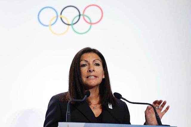 """The Games are much more than a show and much more than just show-business,"" Mayor of Paris Anne Hidalgo argued (AFP Photo/Patrick KOVARIK)"