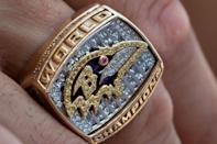 """<p>The winning team normally receives about 150 gem-encrusted Super Bowl rings for players, coaches, and other important members of the organization. The total for the set adds up to about $5 million. William """"The Refrigerator"""" Perry's size 25 ring was the largest made to date for his performance with the Chicago Bears in Super Bowl XX.</p>"""