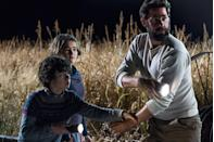 <p><strong>IMDb says:</strong> In a post-apocalyptic world, a family is forced to live in silence while hiding from monsters with ultra-sensitive hearing.</p><p><strong>We say:</strong> How do you feel about a woman in labour putting her bare foot on a huge nail? Yeah, we don't love it either.</p><p><strong>Who's in it? </strong>Emily Blunt, John Krasinski, Millicent Simmonds, Noah Jupe</p>