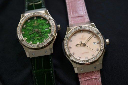 Watches by Swiss watchmaker Hublot intended for the Chinese market. Despite booming demand in China for high-quality watches, makers say that there is still plenty of room for expansion in the massive market