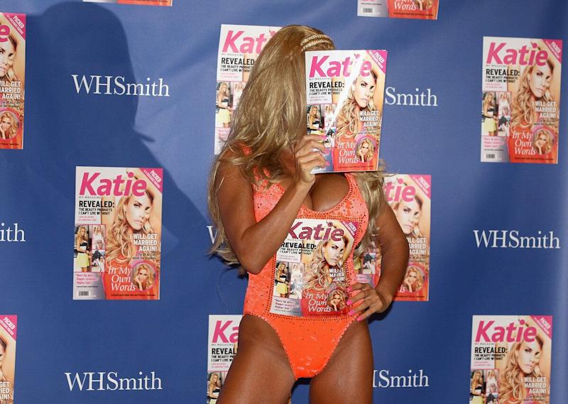 Obviously fed up of being a prominent feature in every magazine going, Katie decided to launch her own one-off magazine, 'Katie', which obviously flew off the shelves...