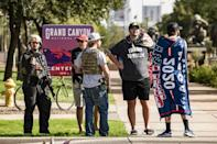Supporters of US President Donald Trump demonstrate in front of the Arizona State Capitol in Phoenix, Arizona