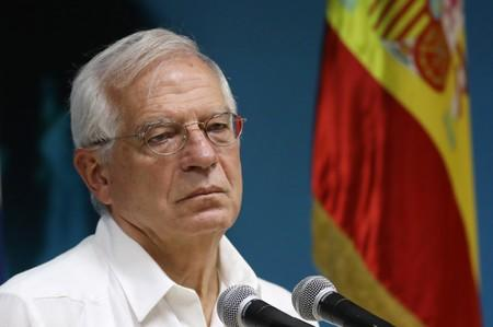 Spanish Foreign Minister Josep Borrell speaks during a news conference in Havana