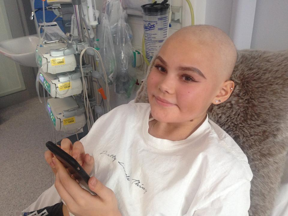 Ella Richard's fifth round of chemotherapy. (PA Real Life/Collect)