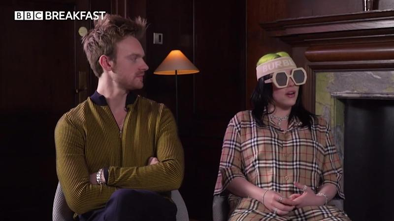 Billie Eilish and brother Finneas discussed the track on BBC Breakfast (BBC)
