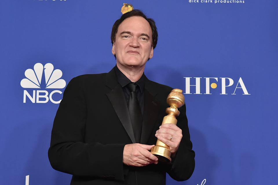 Quentin Tarantino won a Golden Globe for Best Screenplay for 'Once Upon a Time in Hollywood'. (Photo by David Crotty/Patrick McMullan via Getty Images)