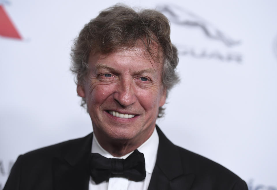 Nigel Lythgoe arrives at the 2018 BAFTA Los Angeles Britannia Awards at the Beverly Hilton on Friday, Oct. 26, 2018 in Beverly Hills, Calif. (Photo by Jordan Strauss/Invision/AP)