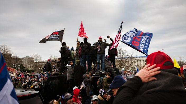 """Trump Supporters Hold """"Stop The Steal"""" Rally In DC Amid Ratification Of Presidential Election"""