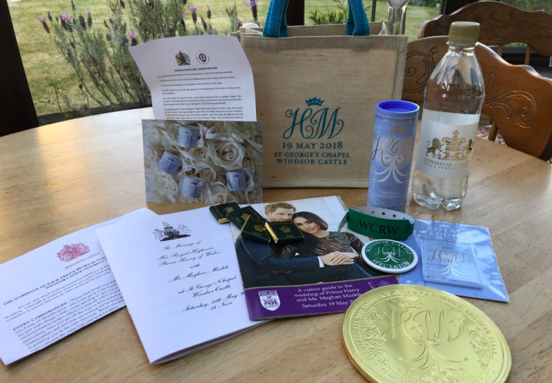 Prince Harry and Meghan Markle's wedding guests have already begun to flog their commemorative goodie bags on eBay [Photo: eBay]