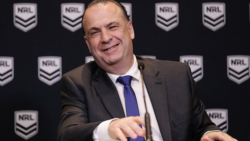 ARLC boss Peter V'landys believes the NRL will need to remain in Queensland for the rest of the season, given the dire coronavirus situation in Sydney. (Photo by Mark Metcalfe/Getty Images)