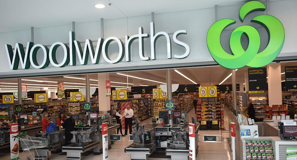A stock photo of Woolworths, which will raise its home brand milk price by 10 cents from Friday.