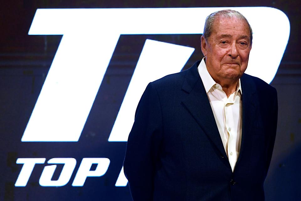 NEW YORK, NEW YORK - APRIL 19: Top Rank boxing founder Bob Arum looks on during the weigh-in for welterweight fighters Terence Crawford and Amir Khan of the United Kingdom at Madison Square Garden on April 19, 2019 in New York City. (Photo by Sarah Stier/Getty Images)