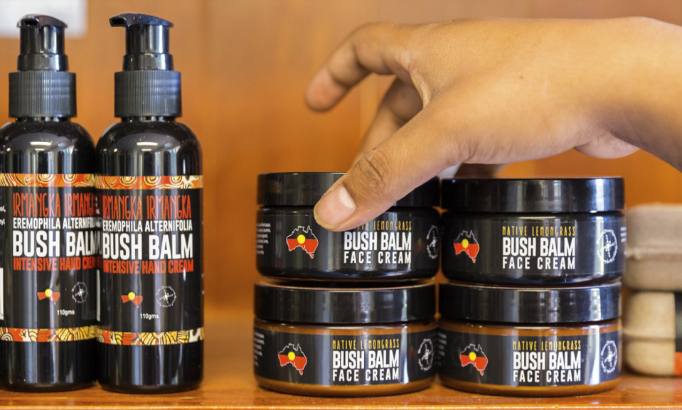 Traditional Indigenous knowledge inspires all Bush Balm products, which are made using plants collected on Aboriginal Lands in Central Australia. Photo: Bush Balm