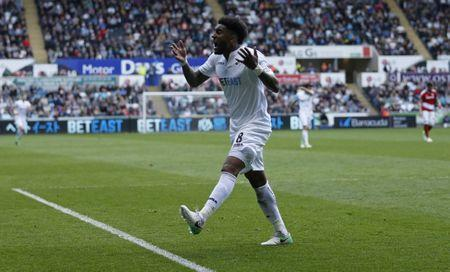 FILE PHOTO: Britain Football Soccer - Swansea City v Middlesbrough - Premier League - Liberty Stadium - 2/4/17 Swansea City's Leroy Fer looks dejected Action Images via Reuters / Andrew Boyers Livepic