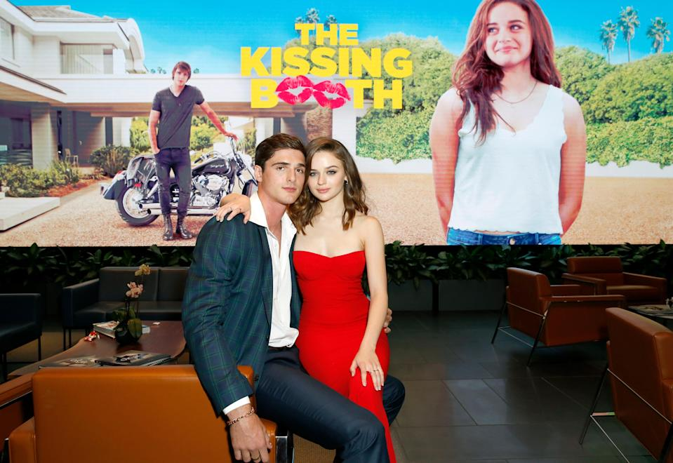 "<em>Of course</em> a movie titled <em>The Kissing Booth</em> would result in the leads enjoying kissing offscreen too. Stars Joey King and Jacob Elordi dated over a year before their eventual breakup. That would have been fine, except…they then had to film a sequel, <em>The Kissing Booth 2</em>, in which the exes play lovers once again. ""It was crazy,"" <a href=""https://people.com/movies/joey-king-working-with-ex-jacob-elordi-was-crazy/#:~:text=Joey%20King%20is%20opening%20up,interviewed%20the%20actress%20in%20July."" rel=""nofollow noopener"" target=""_blank"" data-ylk=""slk:King said"" class=""link rapid-noclick-resp"">King said</a> about working with her ex. ""It was a wild experience. But honestly, it was a really beautiful time. Because I learned a lot about myself and I grew as an actor."""
