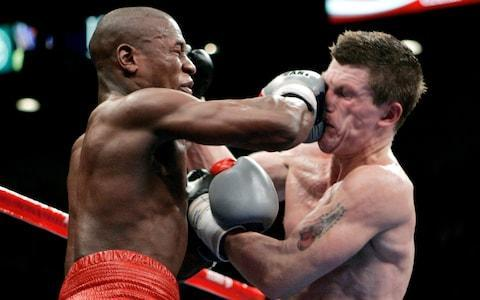 <span>Floyd Mayweather first retired after beating Ricky Hatton in 2007</span> <span>Credit: PA </span>