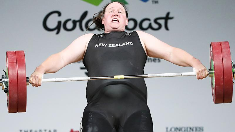 Laurel Hubbard, pictured here in action at the 2018 Commonwealth Games.