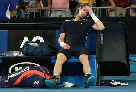 Tennis - Australian Open - First Round - Melbourne Arena, Melbourne, Australia, January 14, 2019. Britain's Andy Murray looks dejected after loosing the match against Spain's Roberto Bautista Agut. REUTERS/Lucy Nicholson
