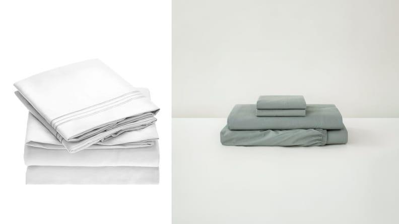 There are so many options for materials from percale cotton, sateen cotton, linen, and microfiber.
