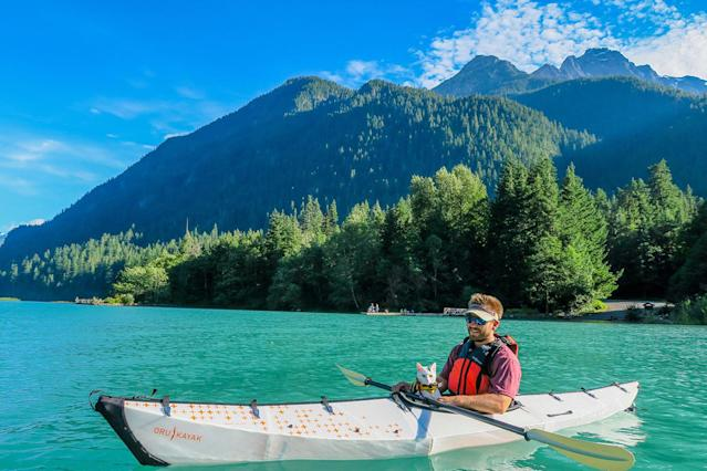 <p>Kayaking in North Cascades National Park, Washington. (Photo: Our Vie / Caters News) </p>