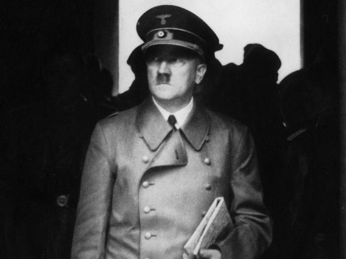 Adolf Hitler circa 1940, the year that his Luftwaffe bombed Rotterdam: Getty