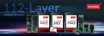 """innodisk releases the world's first industrial-grade 112 layer 3D TLC Flash series. CC Wu, the president of the industrial Flash division says """" The market changes drastically this year, and we need to act more quickly."""" He added, """"Innodisk has started algorithm development and firmware optimization last year and has taken the lead in launching the most complete 112 layer product line. We are optimistic about future demand, and the new product line will definitely indicate the annual growth."""""""