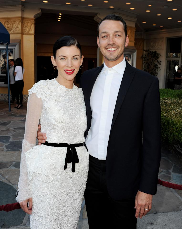 """LOS ANGELES, CA - MAY 29:  Actress Liberty Ross (L) and her husband director Rupert Sanders arrive at a screening of Universal Pictures' """"Snow White and The Huntsman"""" at the Village Theatre on May 29, 2012 in Los Angeles, California.  (Photo by Kevin Winter/Getty Images)"""