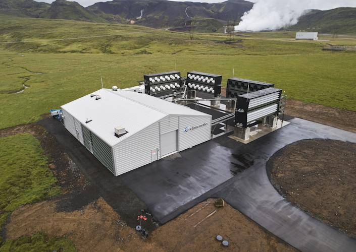 The 'Orca' direct air capture and storage facility, operated by Climeworks AG, in Hellisheidi, Iceland, on Tuesday, Sept. 7, 2021. (Arnaldur Halldorsson/Bloomberg via Getty Images)