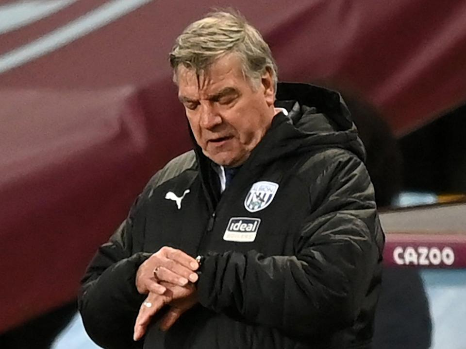 West Brom coach Sam Allardyce (POOL/AFP via Getty Images)