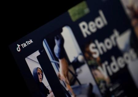 FILE PHOTO: The TikTok app logo seen in this picture illustration