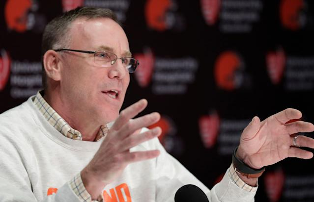 Cleveland Browns general manager John Dorsey has been aggressive this offseason. (AP)