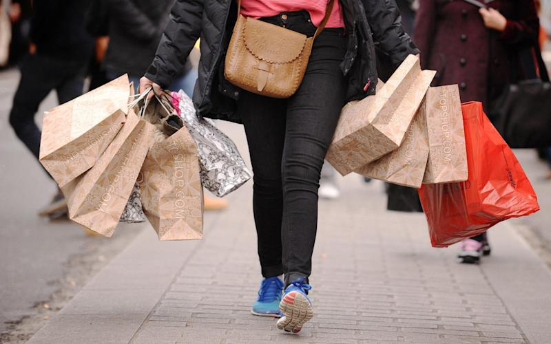 Shoppers bought less in September, compared to August, but overall the picture is of slow growth in retail - PA