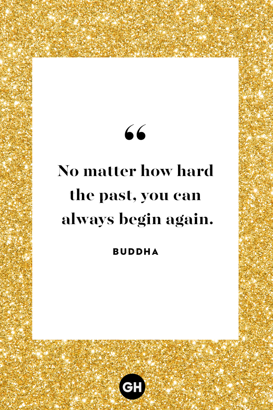 "<p> ""No matter how hard the past, you can always begin again.""</p>"