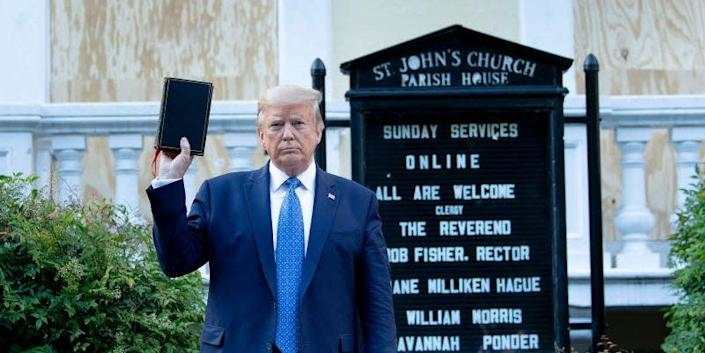 donald trump church
